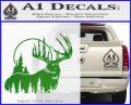 Buck Deer Decal Sticker Green Vinyl Logo 120x97