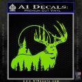 Buck Deer Decal Sticker Lime Green Vinyl 120x120