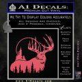 Buck Deer Decal Sticker Pink Emblem 120x120
