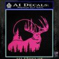 Buck Deer Decal Sticker Pink Hot Vinyl 120x120