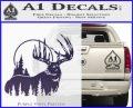 Buck Deer Decal Sticker PurpleEmblem Logo 120x97