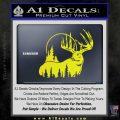 Buck Deer Decal Sticker Yellow Laptop 120x120