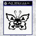 Butterfly Skull Decal Sticker Black Vinyl 120x120