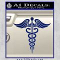 Caduceus Medical Symbol D4 Decal Sticker Blue Vinyl 120x120