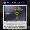 Caduceus Medical Symbol D4 Decal Sticker Glitter Sparkle 120x120