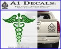 Caduceus Medical Symbol D4 Decal Sticker Green Vinyl Logo 120x97