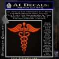 Caduceus Medical Symbol D4 Decal Sticker Orange Emblem 120x120
