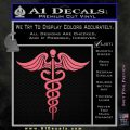 Caduceus Medical Symbol D4 Decal Sticker Pink Emblem 120x120