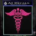 Caduceus Medical Symbol D4 Decal Sticker Pink Hot Vinyl 120x120