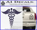 Caduceus Medical Symbol D4 Decal Sticker PurpleEmblem Logo 120x97