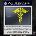 Caduceus Medical Symbol D4 Decal Sticker Yellow Laptop 120x120