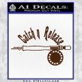 Catch And Release Reel Decal Sticker BROWN Vinyl 120x120