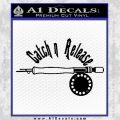 Catch And Release Reel Decal Sticker Black Vinyl 120x120