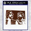 Cheech And Chong D2 Decal Sticker BROWN Vinyl 120x120
