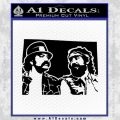 Cheech And Chong D2 Decal Sticker Black Vinyl 120x120