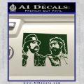 Cheech And Chong D2 Decal Sticker Dark Green Vinyl 120x120