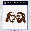 Cheech And Chong Decal Stickers BROWN Vinyl 120x120