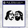 Cheech And Chong Decal Stickers Black Vinyl 120x120