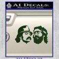 Cheech And Chong Decal Stickers Dark Green Vinyl 120x120