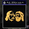 Cheech And Chong Decal Stickers Gold Vinyl 120x120