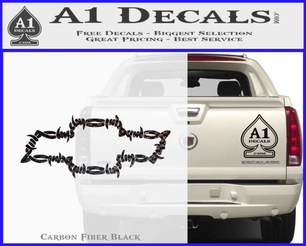 Chevy Barbed Wire Bow Tie Decal Sticker  A Decals - Barb wire custom vinyl decals for trucks