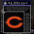 Chicago Bears C Decal Sticker Orange Emblem 120x120