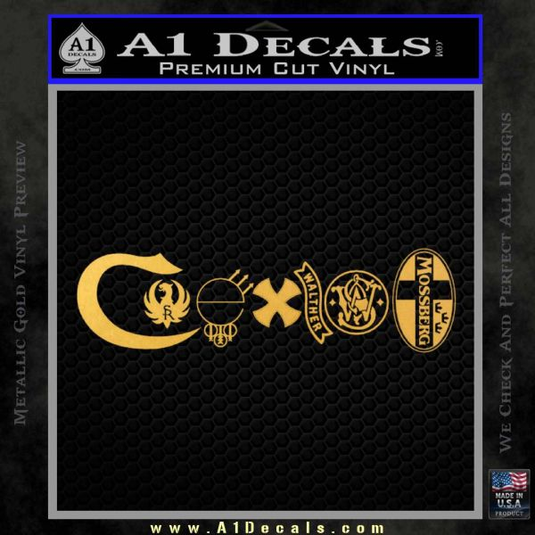 Coexist Firearms Decal Sticker 187 A1 Decals