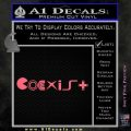 Coexist Pacman Sega Nintento Playstation Video Games Decal Sticker Pink Emblem 120x120