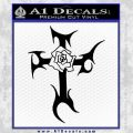 Cross Crucifix Decal Sticker Christian D2 Black Vinyl 120x120