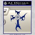 Cross Crucifix Decal Sticker Christian D2 Blue Vinyl 120x120