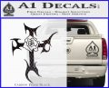 Cross Crucifix Decal Sticker Christian D2 Carbon FIber Black Vinyl 120x97