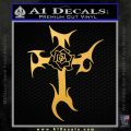 Cross Crucifix Decal Sticker Christian D2 Gold Vinyl 120x120