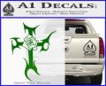 Cross Crucifix Decal Sticker Christian D2 Green Vinyl Logo 120x97