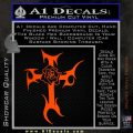Cross Crucifix Decal Sticker Christian D2 Orange Emblem 120x120