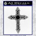 Cross Crucifix Decal Sticker Christian D6 Black Vinyl 120x120