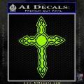 Cross Crucifix Decal Sticker Christian D6 Lime Green Vinyl 120x120