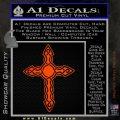 Cross Crucifix Decal Sticker Christian D6 Orange Emblem 120x120