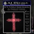 Cross Crucifix Decal Sticker Christian D6 Pink Emblem 120x120