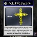 Cross Crucifix Decal Sticker Christian D6 Yellow Laptop 120x120