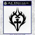 Cross Crucifix Decal Sticker Christian D8 Black Vinyl 120x120