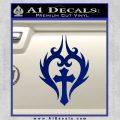Cross Crucifix Decal Sticker Christian D8 Blue Vinyl 120x120