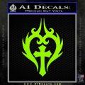 Cross Crucifix Decal Sticker Christian D8 Lime Green Vinyl 120x120