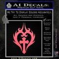 Cross Crucifix Decal Sticker Christian D8 Pink Emblem 120x120