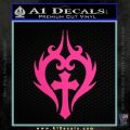 Cross Crucifix Decal Sticker Christian D8 Pink Hot Vinyl 120x120