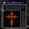Cross Crucifix Decal Sticker Christian D9 Orange Emblem 120x120