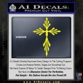 Cross Crucifix Decal Sticker Christian D9 Yellow Laptop 120x120