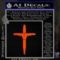 Cross Crucifix Guns Bullets Ammo Decal Sticker Orange Emblem 120x120