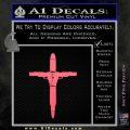 Cross Crucifix Guns Bullets Ammo Decal Sticker Pink Emblem 120x120