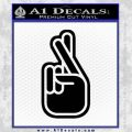 Crossed Fingers D2 Decal Sticker Black Vinyl 120x120