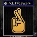 Crossed Fingers D2 Decal Sticker Gold Vinyl 120x120